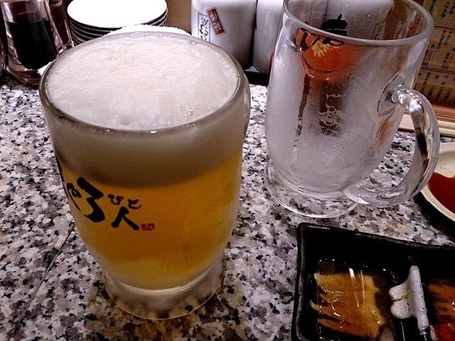 ビールを呑んだ