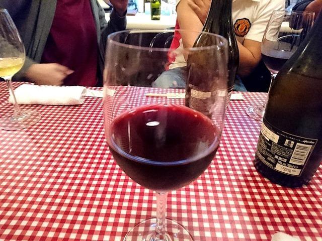 赤ワインを呑んだ