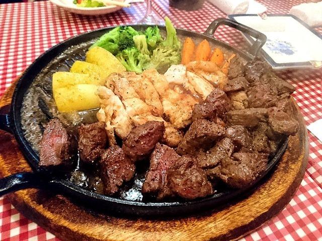 肉を食べた
