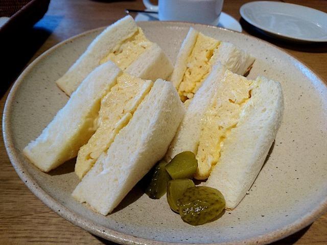 「たまごサンドイッチ」でランチ。(Cafe M/N:まるごとにっぽん:浅草二丁目)
