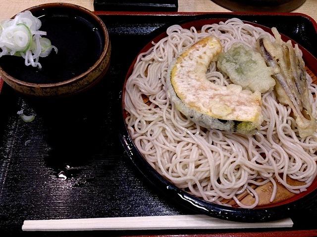 野菜天そば(冷)