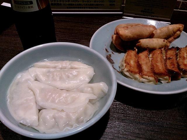 みんみんの焼餃子、揚餃子、水餃子