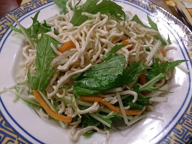 水菜と細切豆腐の前菜