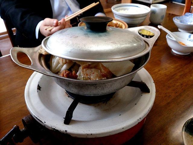 ふじた食堂のホルモン鍋