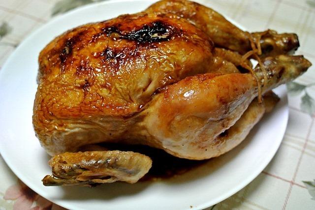 竹松鶏肉店のローストチキン