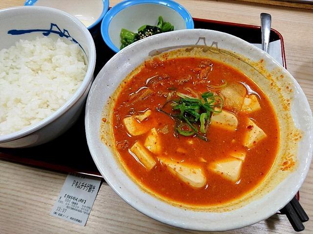 豆腐キムチチゲ半膳