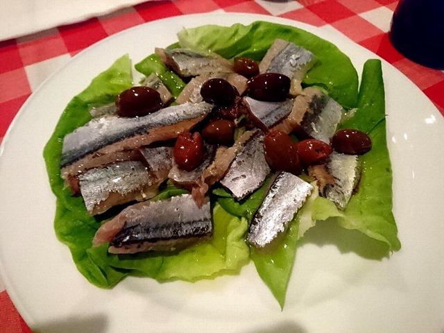 秋刀魚とオリーブの□