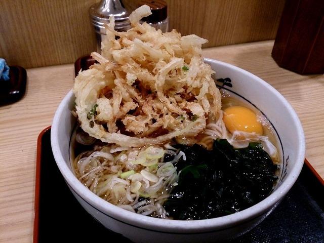名代箱根そば町田店の天玉