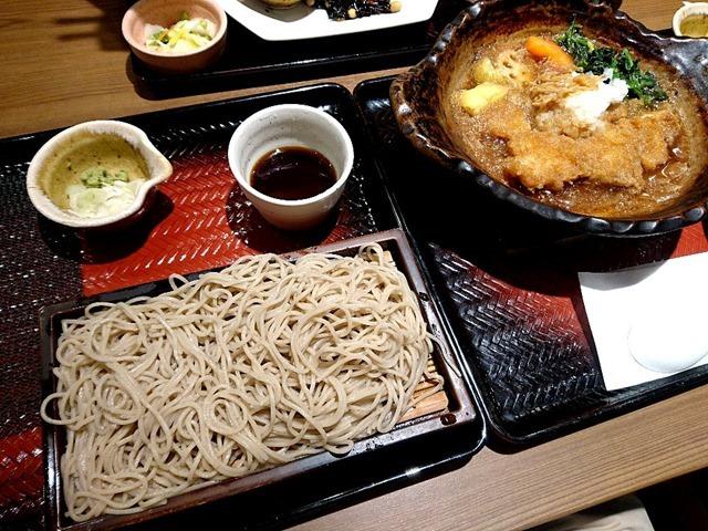 チキンかあさん煮+せいろ蕎麦(大盛)