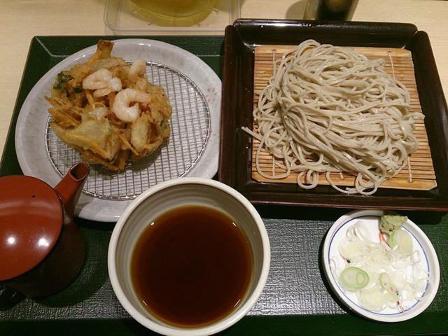 海鮮かき揚げ蕎麦